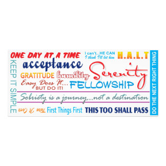 12 step recovery slogans bookmark rack card