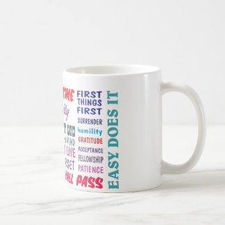 12 step recovery slogans coffee mug
