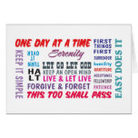 12 step recovery slogans greeting card