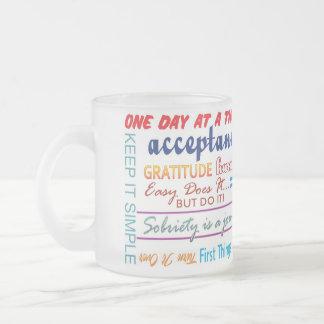 12 step recovery slogans mug
