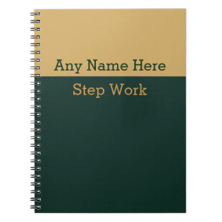 12 Step Recovery Work Book Journal Lined Notebook