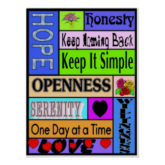 12 step sayings poster