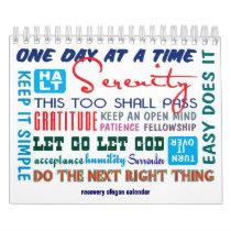12 step sobriety slogans calendar