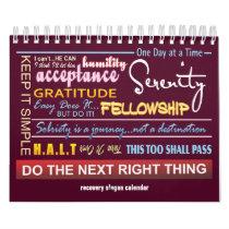 12 step sobriety slogans calendar ver.2