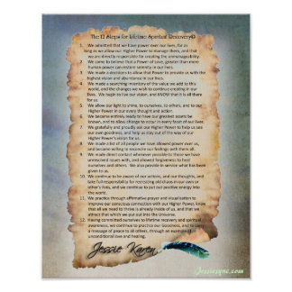 12 Steps for a Lifetime Spiritual Recovery Poster