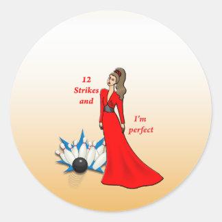 12 Strikes and I'm Perfect #2 Classic Round Sticker