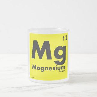 12 tabla periódica del magnesio | de elementos taza de café esmerilada