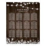 12 Tables Rustic Wood Winter Wedding Seating Chart