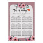 12 Tables Wedding Seating Chart Watercolor Floral