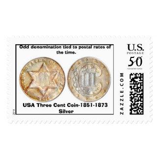 12-tc three cent silver, USA Three Cent Coin-18... Postage