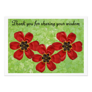 12 Thank You For Sharing Your Wisdom Custom Invitation