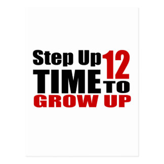 12 Time  To Grow Up Birthday Designs Postcard