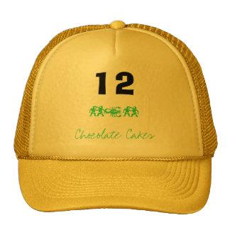 12, tortas de chocolate, oto gorras