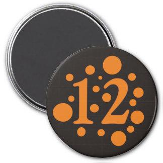 12-Twelve 3 Inch Round Magnet