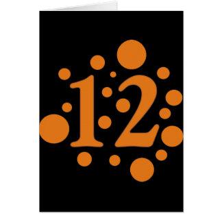 12-Twelve Greeting Card