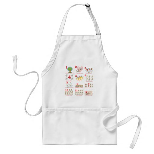 12 twelves days of christmas complete aprons