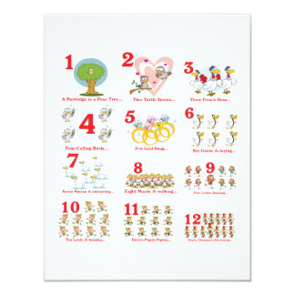 12 twelves days of christmas complete card