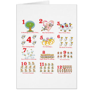12 twelves days of christmas complete greeting card