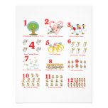 12 twelves days of christmas complete personalized announcement