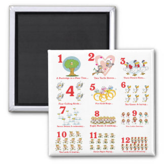 12 twelves days of christmas complete magnet