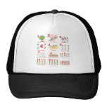 12 twelves days of christmas complete mesh hats