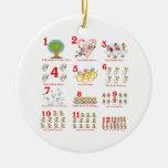 12 twelves days of christmas complete christmas tree ornament