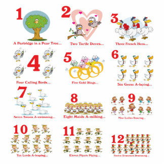 12 twelves days of christmas complete photo sculpture keychain