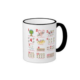 12 twelves days of christmas complete ringer mug