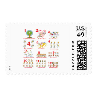12 twelves days of christmas complete stamps