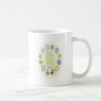 12 World Religion Symbols & Prayer Coffee Mug