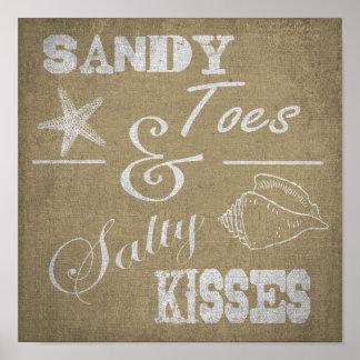 12 X12 poster - dedos del pie de Sandy y besos s