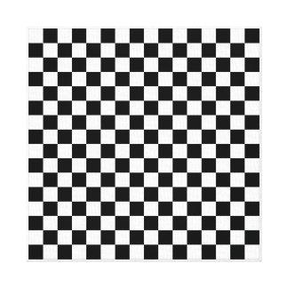 """12"""" x 12"""", .75"""", Checkerboard 16x16 Canvas"""