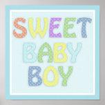"12"" x 12"" Baby Boy Poster"