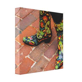 12 x 12 Decorative Woman's Cowboy Boots Canvas Print