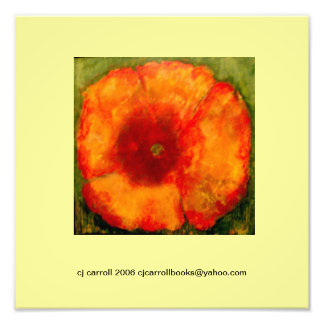 12 x 12 Poppy Painting Photo-Print III Photo Print