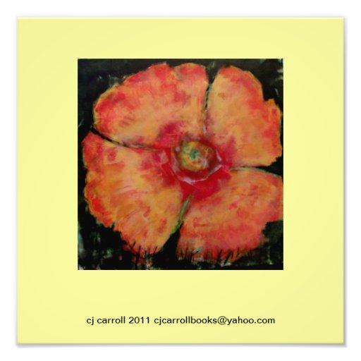 12 x 12 Poppy Painting Photo-Print Photo Print
