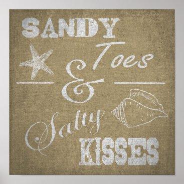 "Keriyoo 12"" x 12"" Poster - Sandy Toes & Salty Kisses"