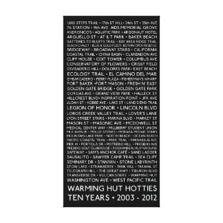 """12 x 24"""" Canvas - 10 Years Warming Hut Hotties Stretched Canvas Print"""