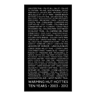 "12 x 24"" Poster - 10 Years - Warming Hut Hotties"