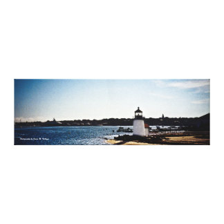 12 x 36 Brant Point Lighthouse Gallery Wrapped Canvas