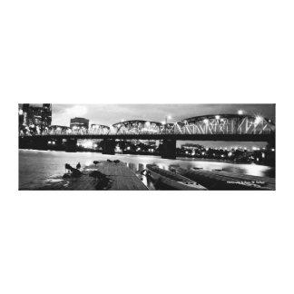 12 x 36 Hawthorne Bridge Canvas Print