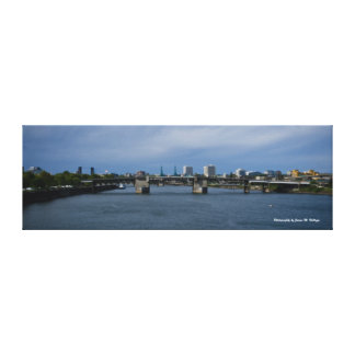 12 x 36 Morrison Bridge Canvas Print
