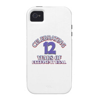 12 year birthday gifts vibe iPhone 4 case
