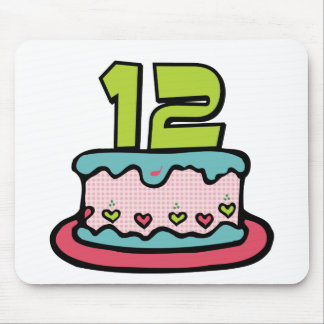 12 Year Old Birthday Cake Mouse Pad