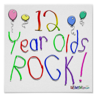 12 Year Olds Rock ! Print