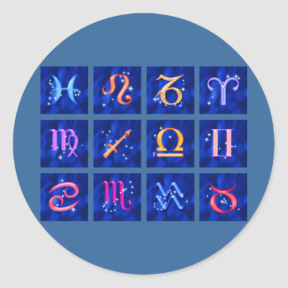 12 Zodiac signs and the constellations Sticker