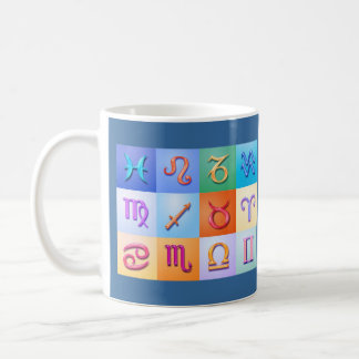 12 Zodiac signs Aqua style Coffee Mug