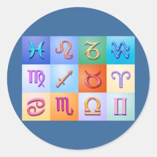 12 Zodiac signs Aqua style Sticker
