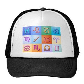12 Zodiac signs Aqua style Trucker Hat