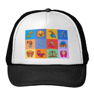 12 Zodiac signs cartoon style Trucker Hat